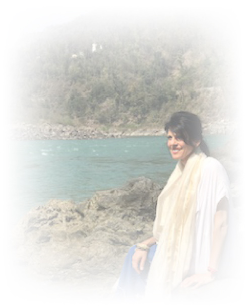 Maria at Ganges River